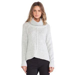 Sanctuary Sweaters - Sanctuary Cowl Neck Sweater Large Gray Side Slits